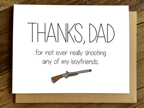 Funny Father's Day Card | Shooting My Boyfriends
