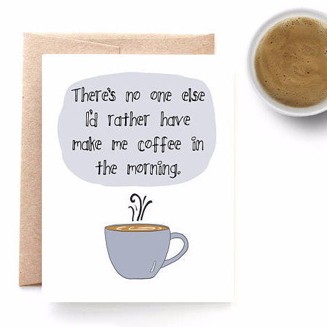 """Coffee"" Love Card"