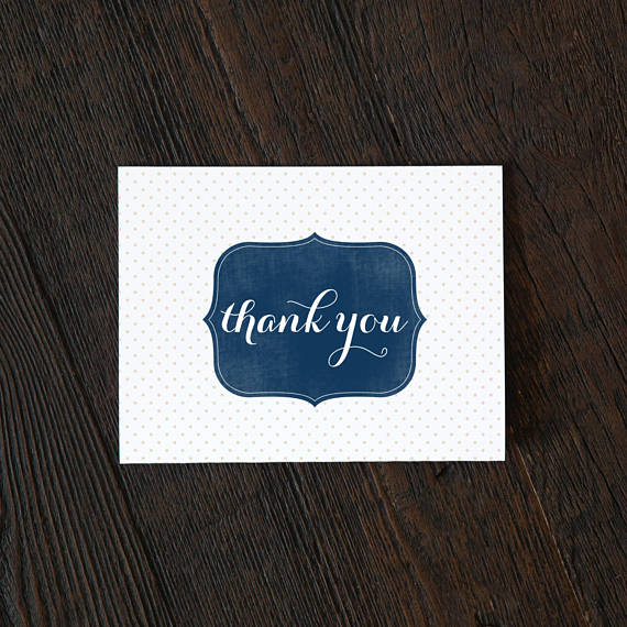 Simple Boxed Thank You Cards