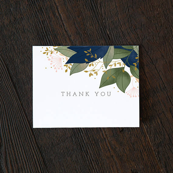 Floral Boxed Thank You Cards