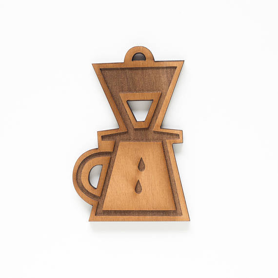 Pour Over Coffee Ornament
