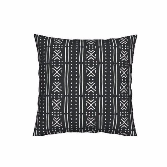 """Roots"" Collection Modern Geometric Pillow 