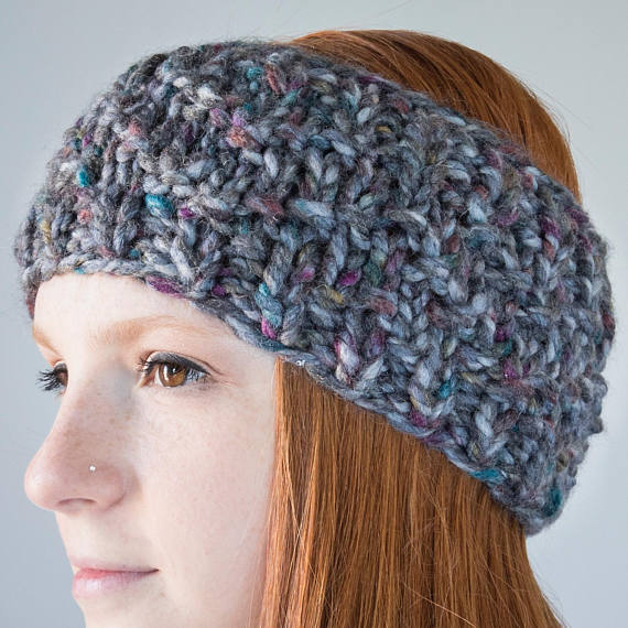 Chevron Knit Earwarmer | Abalon