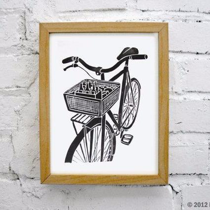 Bike and Beer Print