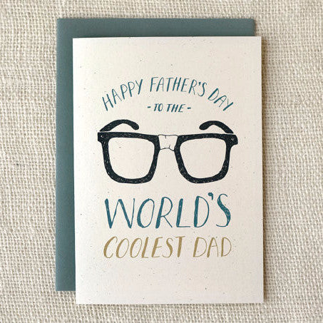 """World's Coolest Dad"" Father's Day Card by Wit & Whistle, available at Three Hearts Home"