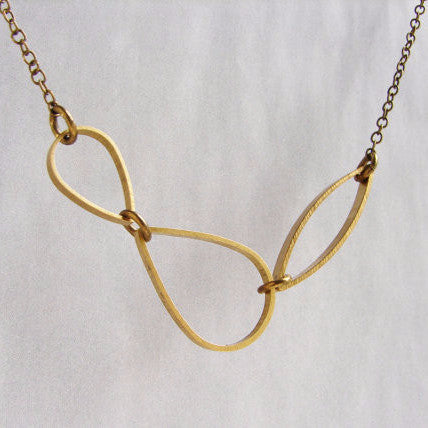 Brass Raindrop Necklace