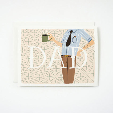 """DAD"" Card by Quill & Fox, available at Three Hearts Home"