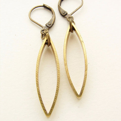 Abstract Brass Drop Earrings