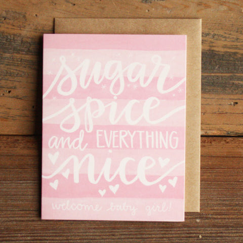 Sugar and Spice | Baby Girl Card