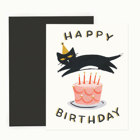 Cat Cake Birthday Card