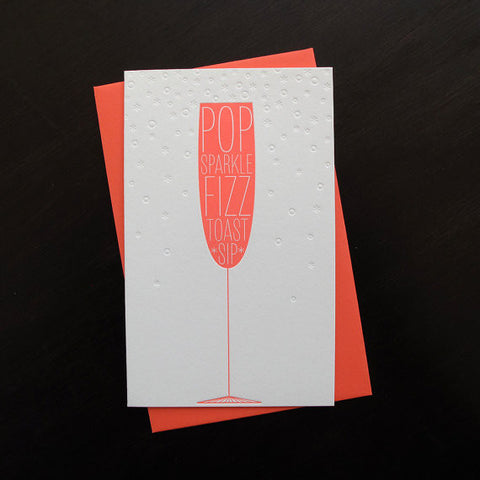 """Pop Sparkle Fizz"" Congratulations Card"