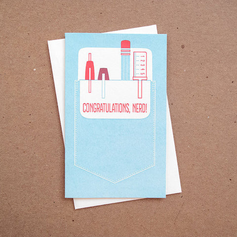 Pocket Protector Graduation Card