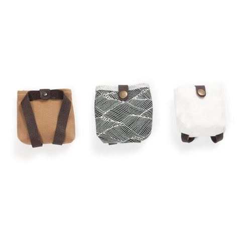 Backpack for stuffed animals by Hazel Village. Ethically made with organic cotton.