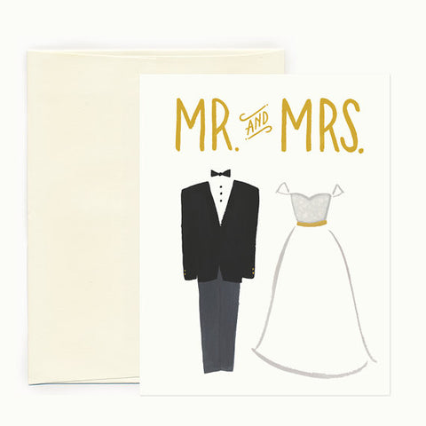 Tux & Dress Wedding Card