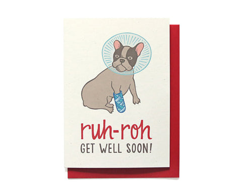 Get Well Card | Ruh-Roh | Dog in cone