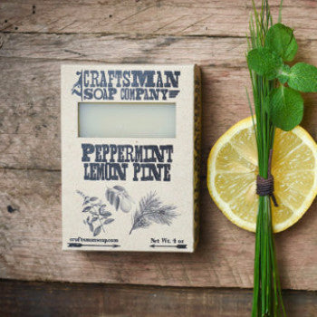 Bar Soap | Peppermint Lemon Pine - 100% Natural, Handmade