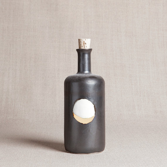 Waxing Moon Bottle | Metallic Black