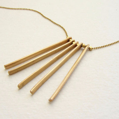 Brass Bar Pendant