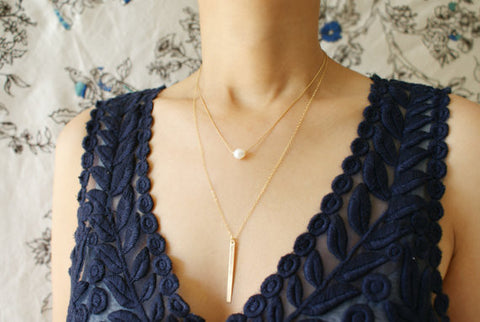 Sliding Pearl Necklace