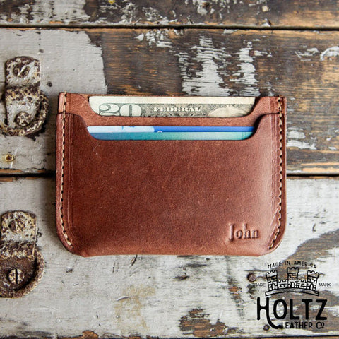 The Bradford | Front Pocket Double Sleeve Fine Leather Wallet with Rounded Corners