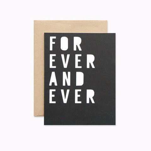 """For Ever and Ever"" Papercut Card by Evermore Paper Co, available at Three Hearts Home"