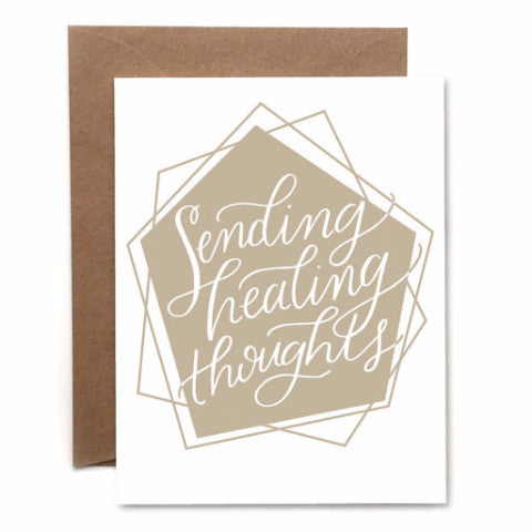 """Sending Healing Thoughts"" Card by Heartswell, available at Three Hearts Home"