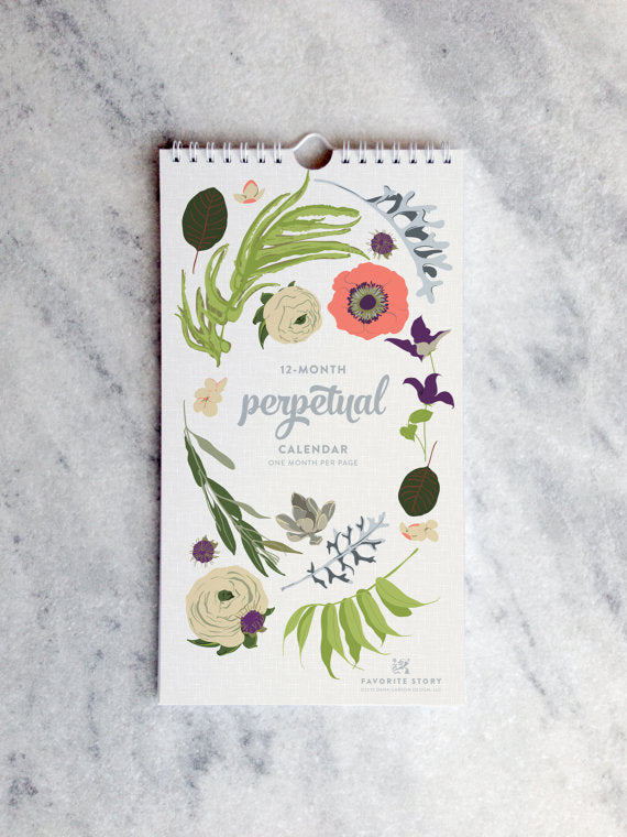 Perpetual Birthday Calendar | Botanical Illustration | Wildflowers
