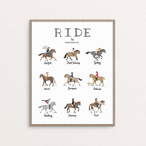 """Ride"" Art Print by Paper Pony Co., available at Three Hearts Home"