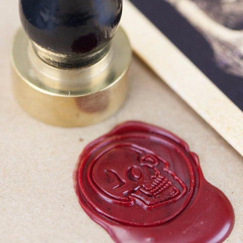 Anatomical Skull Wax Seal Kit | Gift for Doctor or Medical Student