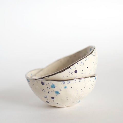 Ceramic Salt Cellar | Blueberry with Palladium Lustre