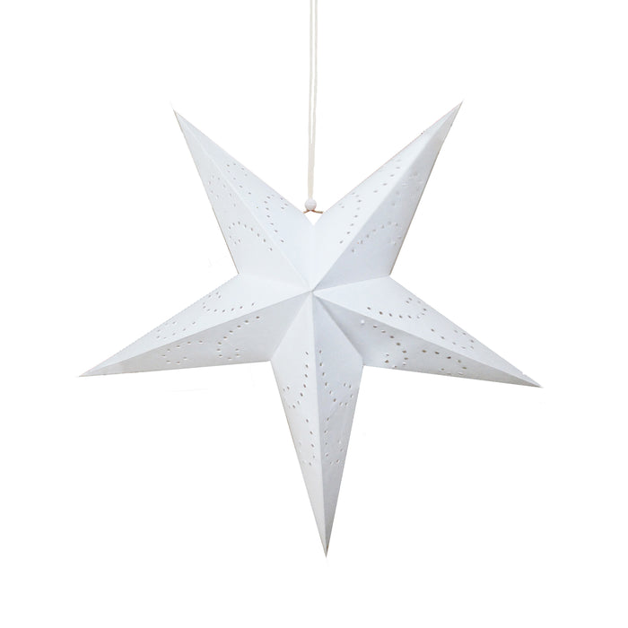 Recycled Paper Star Lantern | White