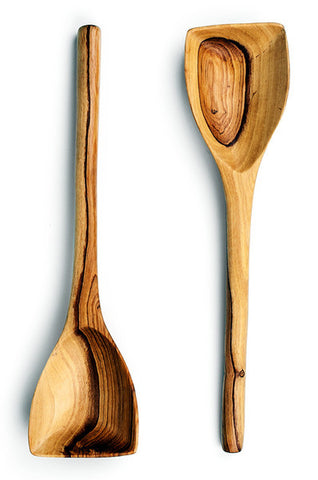 Olive Wood Squared Cooking Spoon