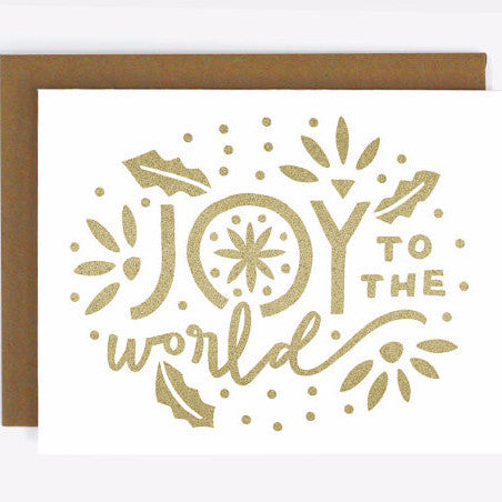 Joy to the World Screen Printed Card