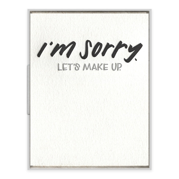 """Let's Make Up"" Friendship Card by Ink Meets Paper, available at Three Hearts Home"