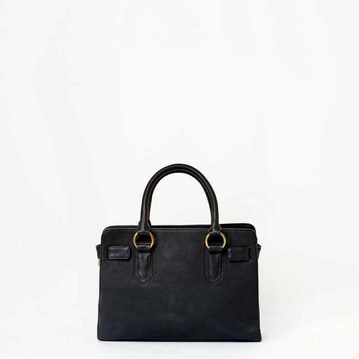 Mamta Vegan Leather Handbag | Black