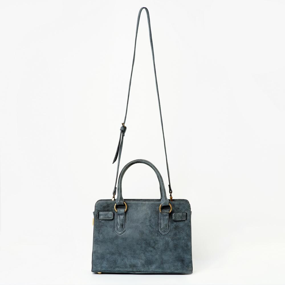Mamta Vegan Leather Handbag | Grey