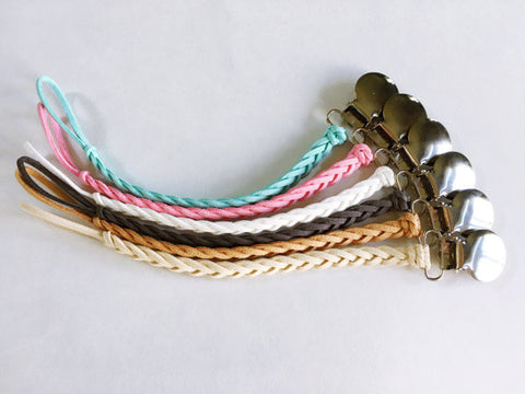 Braided Pacifier Clip