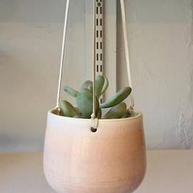 Ceramic Hanging Planter | Pink Ombre
