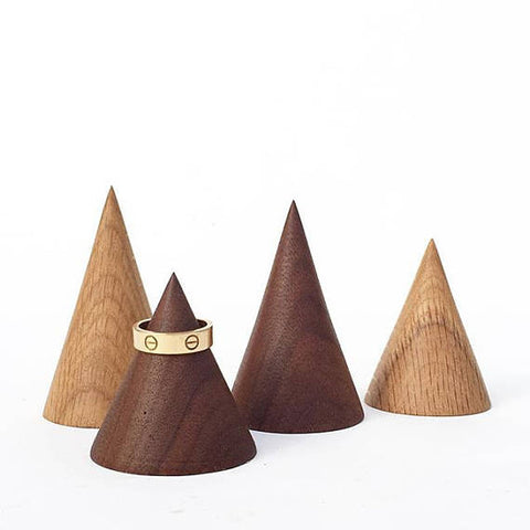 Wooden Ring Cone | Minimalist Jewelry Holder