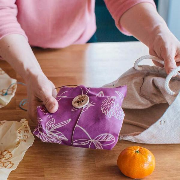 Bee's Wrap All Natural, Sustainable Food Storage | Floral Pattern Sandwich Wrap