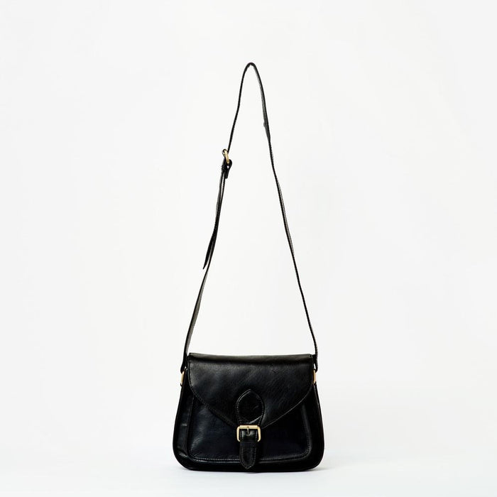 Myra Leather Satchel | Black