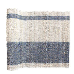 Handmade Bark & Leaf Table Runner | Sea Salt | Fair Trade