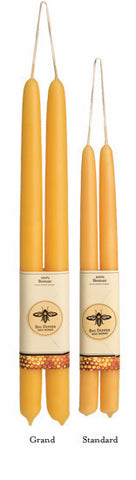 100% Pure Beeswax Tapers | Candles | Standard Pair
