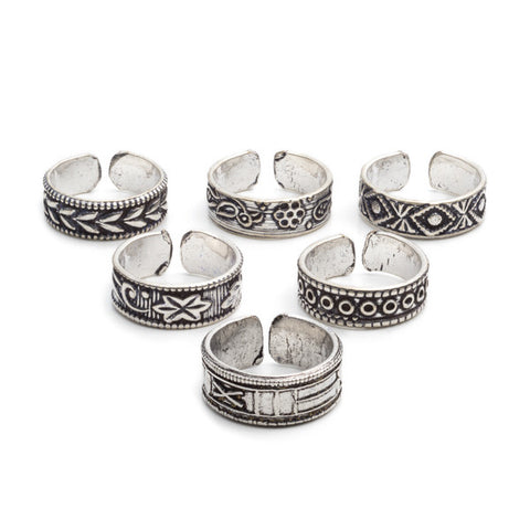 Indian Motif Toe/Midi Rings | Assorted
