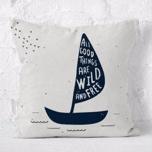 Throw Pillow | Wild and Free