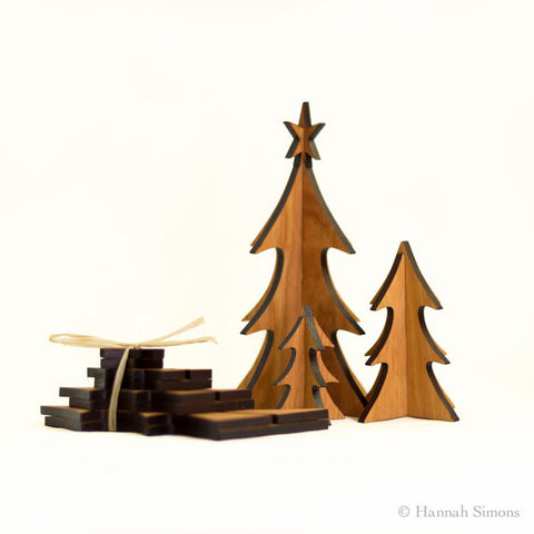 Wooden Evergreen Trees