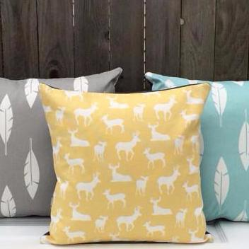 Modern Throw Pillow | Yellow Deer