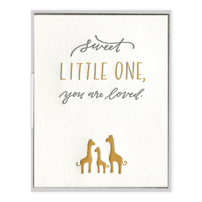 """You Are Loved"" Baby Card"