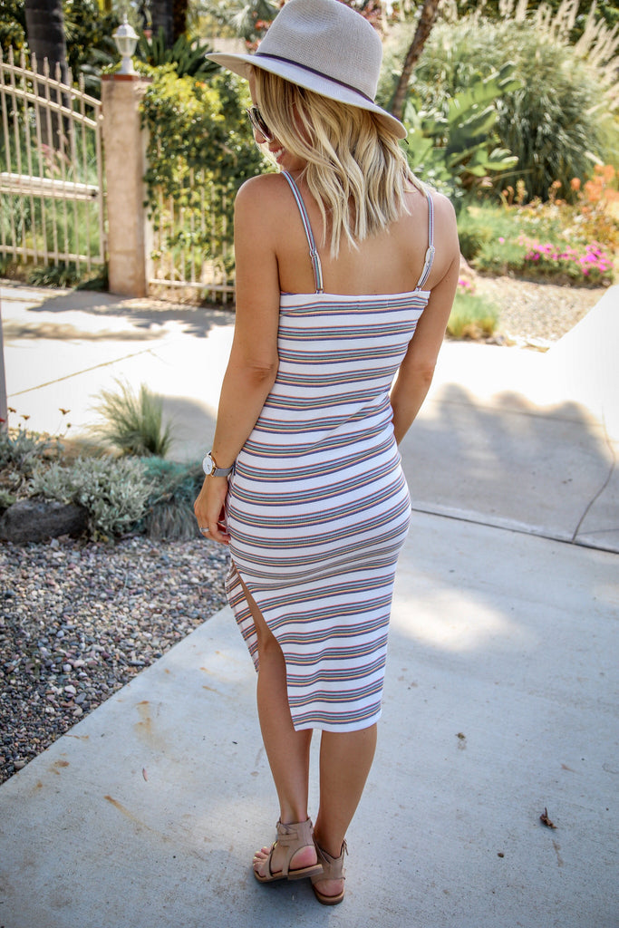 Santana Striped Bodycon Dress - FINAL SALE