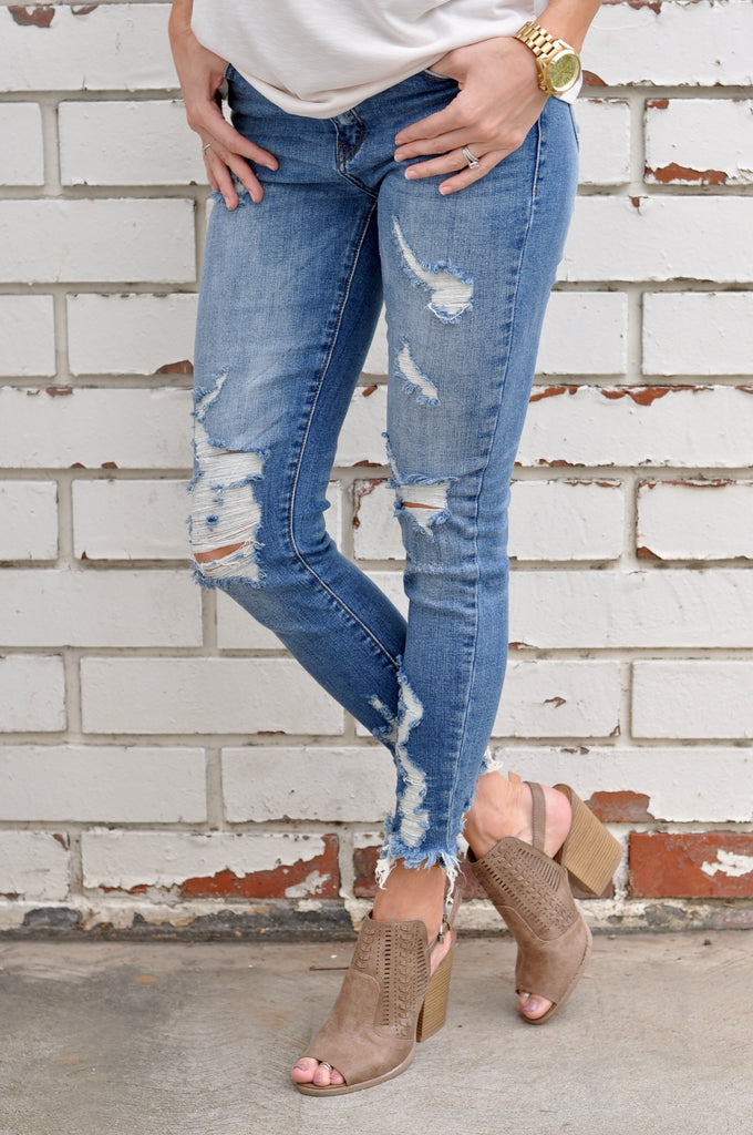 Meyer Distressed Skinny - FINAL SALE